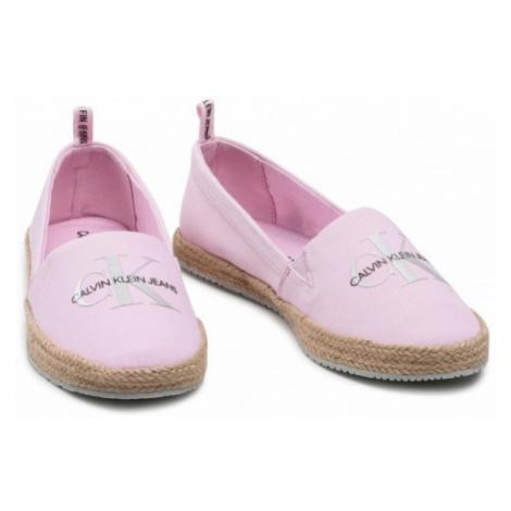 Calvin Klein Calvin Klein dámské růžové espadrilky ESPADRILLE PRINTED CO