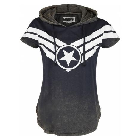 Captain America Star dívcí tricko modrá