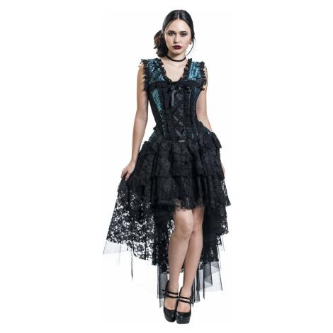 Burleska Ophelie Dress Šaty cerná/modrá