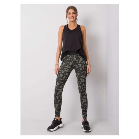 FOR FITNESS Black khaki leggings Fashionhunters