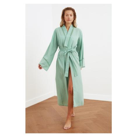 Trendyol Green Striped Kimono & Kaftan