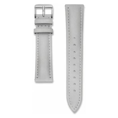 Rosefield Bowery kožený šedivý / stříbrný / 18 mm