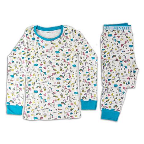 Minoti Pyžamo dívčí, Minoti, HWX129, bílá