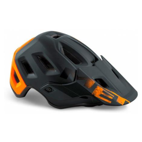 Cyklistická helma MET Roam černá/oranžová matná
