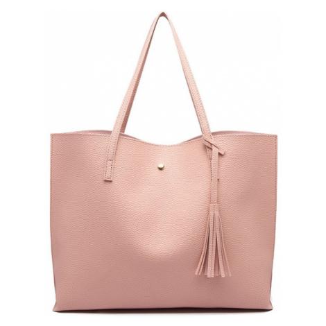 Růžová dámská elegantní kabelka pro formáty A4 Aara Lulu Bags