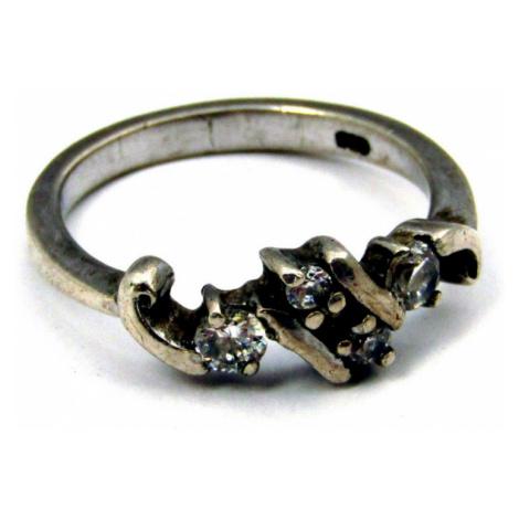 AutorskeSperky.com - Stříbrný prsten s bílými topazy -  S1201