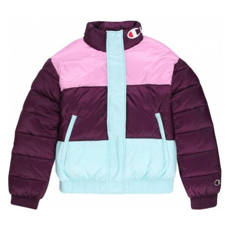 Champion Authentic Athletic Apparel Zimní bunda růžová / světlemodrá / burgundská červeň