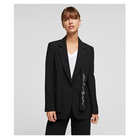 Blejzr Karl Lagerfeld Tailored Blazer - Černá