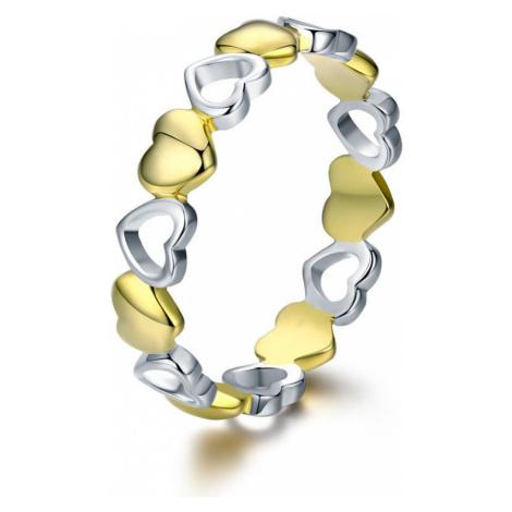Linda's Jewelry Stříbrný prsten Love double Elegance IPR046 Velikost: 52