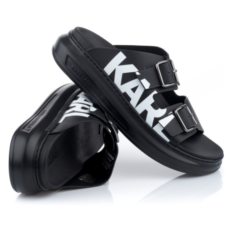 Pantofle Karl Lagerfeld Kapri Double Buckle Karl - Černá