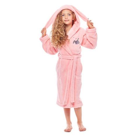 Dívčí župan s ušima Bunny růžový L&L Collection