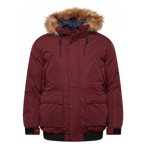Jack & Jones Plus Přechodná bunda tmavě červená