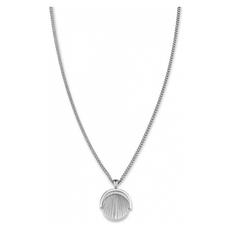 Rosefield náhrdelník TOC Necklace Twisting Sunray Coin pendant Silver