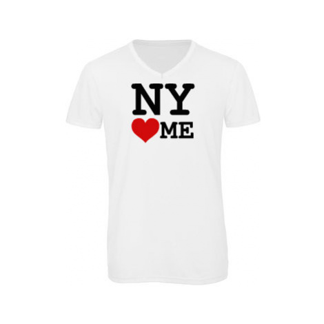 Pánské triko s výstřihem do V NY loves me