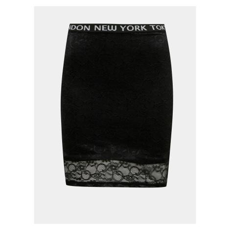 Tally Weijl černá dámská sukně s krajkou