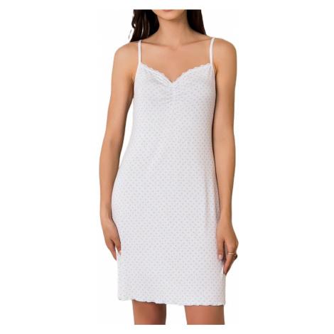 Dámská bílá noční košile BASIC