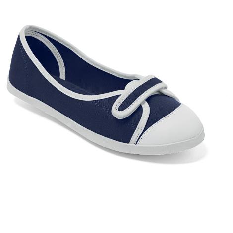 Blancheporte Plátěné balerínky nám.modrá/bílá