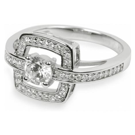 Silver Cat Stříbrný prsten s krystaly SC046