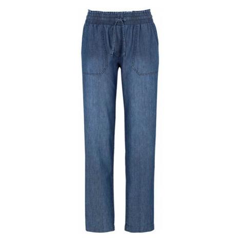 Volné denimové kalhoty s gumou v pase Cellbes