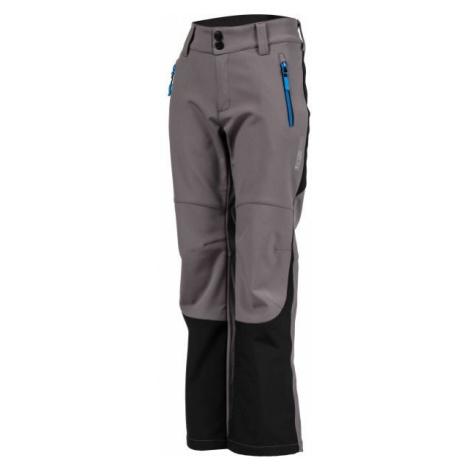 Lewro DAYK šedá - Dětské softshellové kalhoty