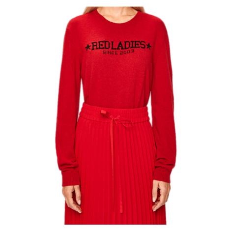 Červený vlněný svetr s příměsí kašmíru - RED VALENTINO