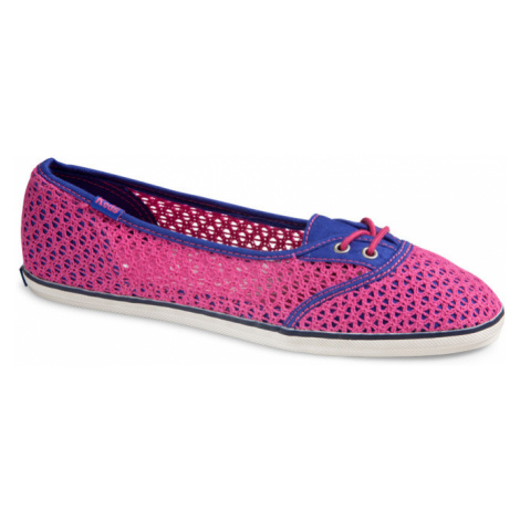 Too Cute Woven Crochet fuchsia Keds