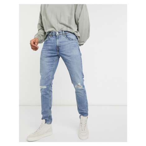 Levi's Youth 512 slim tapered lo ball distressed jeans in dolf metal advanced mid wash-Blue Levi´s