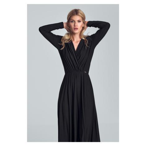 Černé šaty M705 Figl