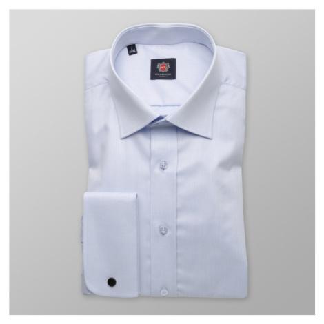 Pánská slim fit košile London 8567 v modré barvě s úpravou 2W Plus Willsoor