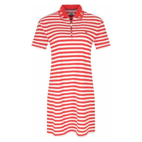 Tommy Jeans dámské polo šaty s červeným proužkem Tommy Hilfiger