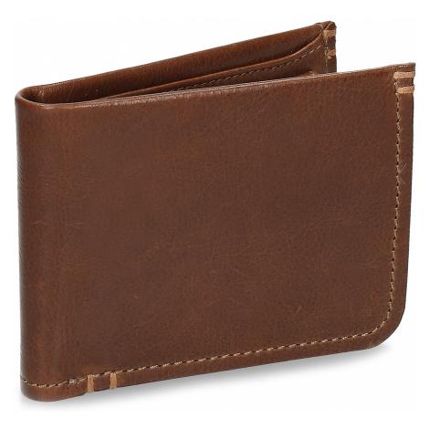 Pánská hnědá kožená peněženka Baťa