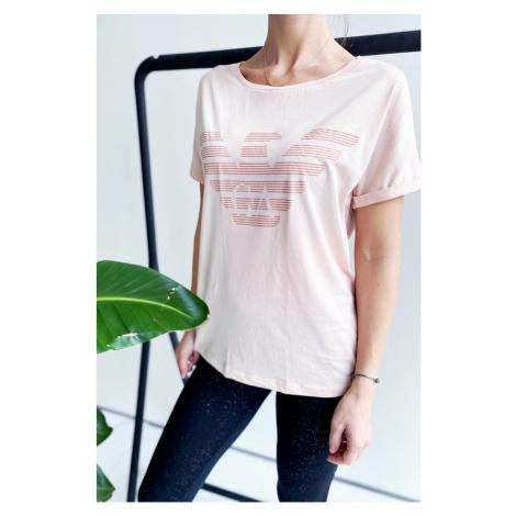 Emporio Armani Underwear Emporio Armani tričko z organické bavlny dámské - růžová