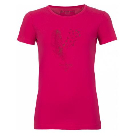 Dámské triko Alpine Pro UNEGA 4 - tmavě růžová