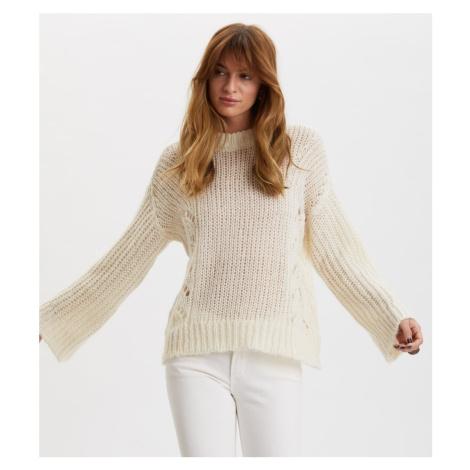 Svetr Odd Molly Comfort Oversized Sweater - Bílá