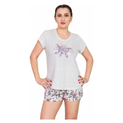 Dámské pyžamo šortky Vienetta Secret Dreams | lososová