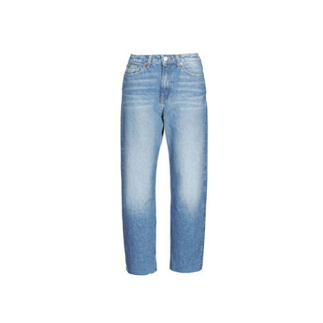 Tommy Jeans HARPER HIGH RISE STRAIGHT Modrá Tommy Hilfiger
