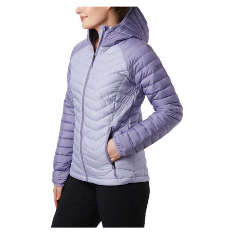 Bunda Columbia Powder Lite™ Hooded Jacket - fialová