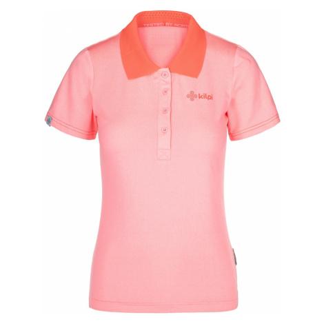 Dámské funkční polo tričko KILPI COLLAR-W světle růžová