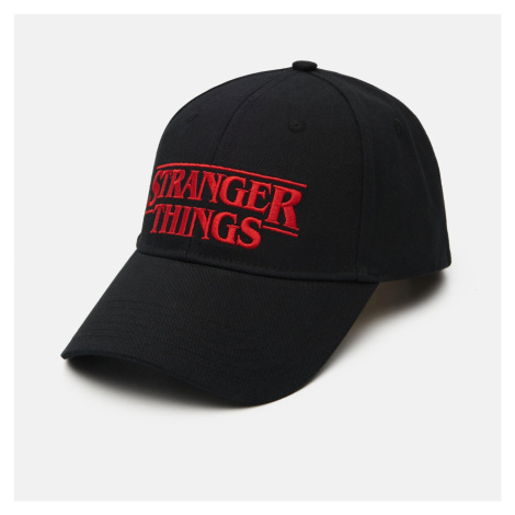Cropp - Baseballová kšiltovka Stranger Things - Černý