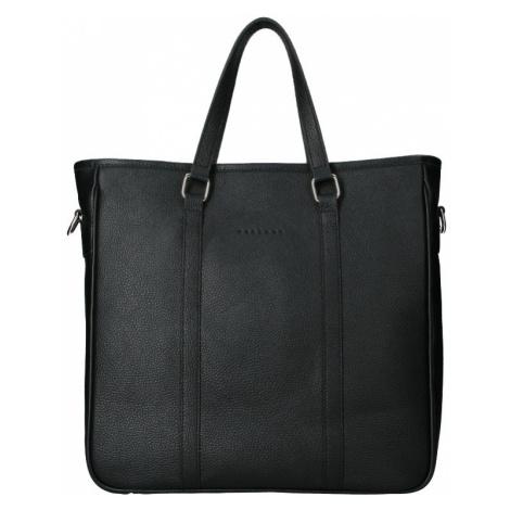 Kožená taška na notebook Facebag Neapol - černá