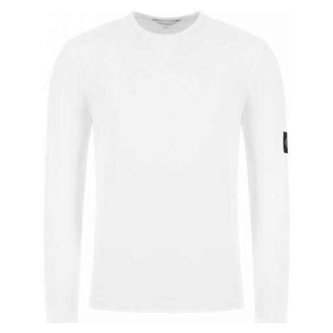 Calvin Klein Calvin Klein pánské bílé tričko s dlouhým rukávem MGRM BADGE SLEEVE LS RIBBED CUFF