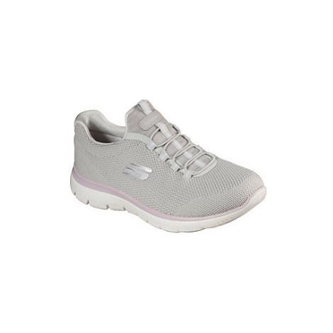Světle šedé slip-on tenisky Skechers