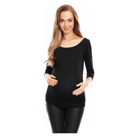 Černý těhotenský top 0142 PeeKaBoo