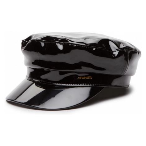 Černý lesklý baret TWINSET