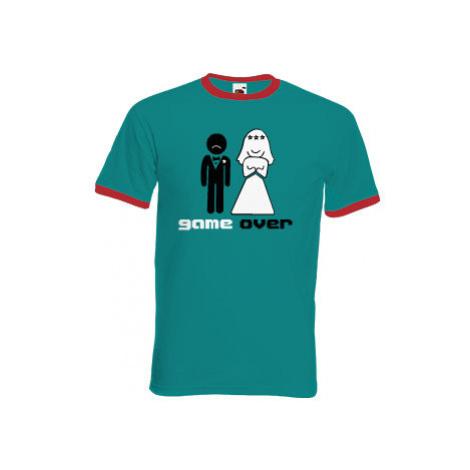 Pánské tričko s kontrastními lemy Game over
