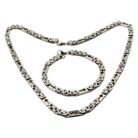 Sam's Artisans Sada šperků Kříž chirurgická ocel ISM004