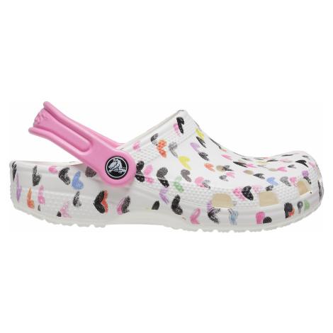 Dětské boty Crocs CLASSIC HEART bílá/růžová