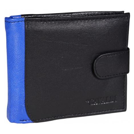 Kožená peněženka pro muže 4U Cavaldi N992L-SPN černá/modrá