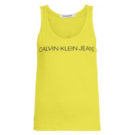 Calvin Klein CALVIN KLEIN dámské žluté tílko INSTITUTIONAL LOGO TANK