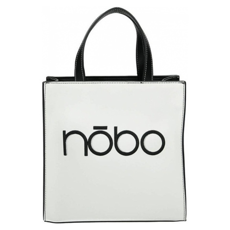 Nobo černo-bílá shopper kabelka s logem